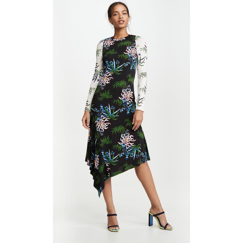 ケンゾー KENZO レディース ワンピース ワンピース・ドレス【Fluid Asymetrical All Over Dress】Black