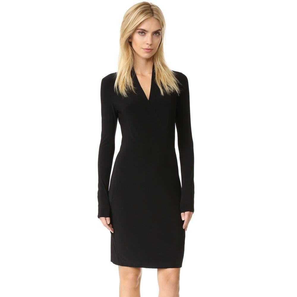 ノーマ カマリ Norma Kamali レディース ワンピース ワンピース・ドレス【Long Sleeve Side Draped Dress】Black