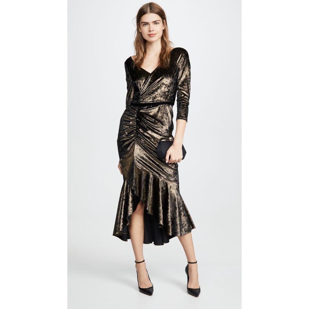 ノッテ バイ マルケッサ Marchesa Notte レディース パーティードレス カクテルドレス ワンピース・ドレス【Shirred Cocktail Dress】Gold