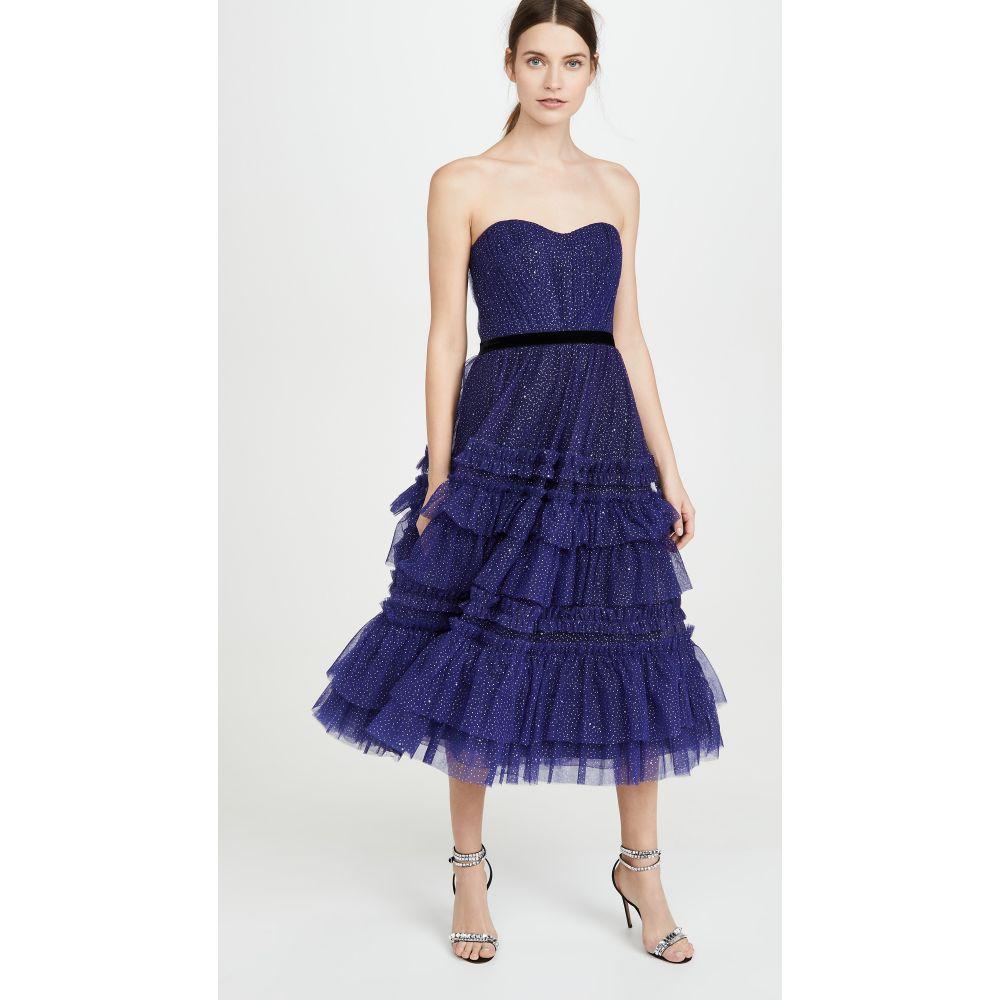 ノッテ バイ マルケッサ Marchesa Notte レディース パーティードレス ワンピース・ドレス【Strapless Tulle Gown】Royal