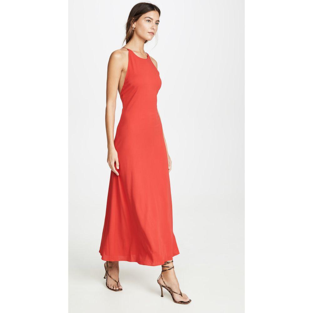 ロゼッタゲティー Rosetta Getty レディース ワンピース スリップドレス ワンピース・ドレス【Cross Back Bias Slip Dress】Rouge
