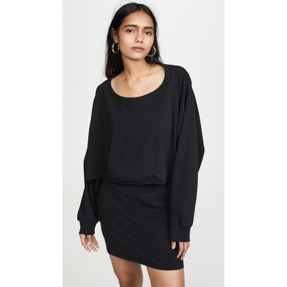 アレキサンダー ワン alexanderwang.t レディース ワンピース ワンピース・ドレス【High Twist Jersey Open Back Dress】Black