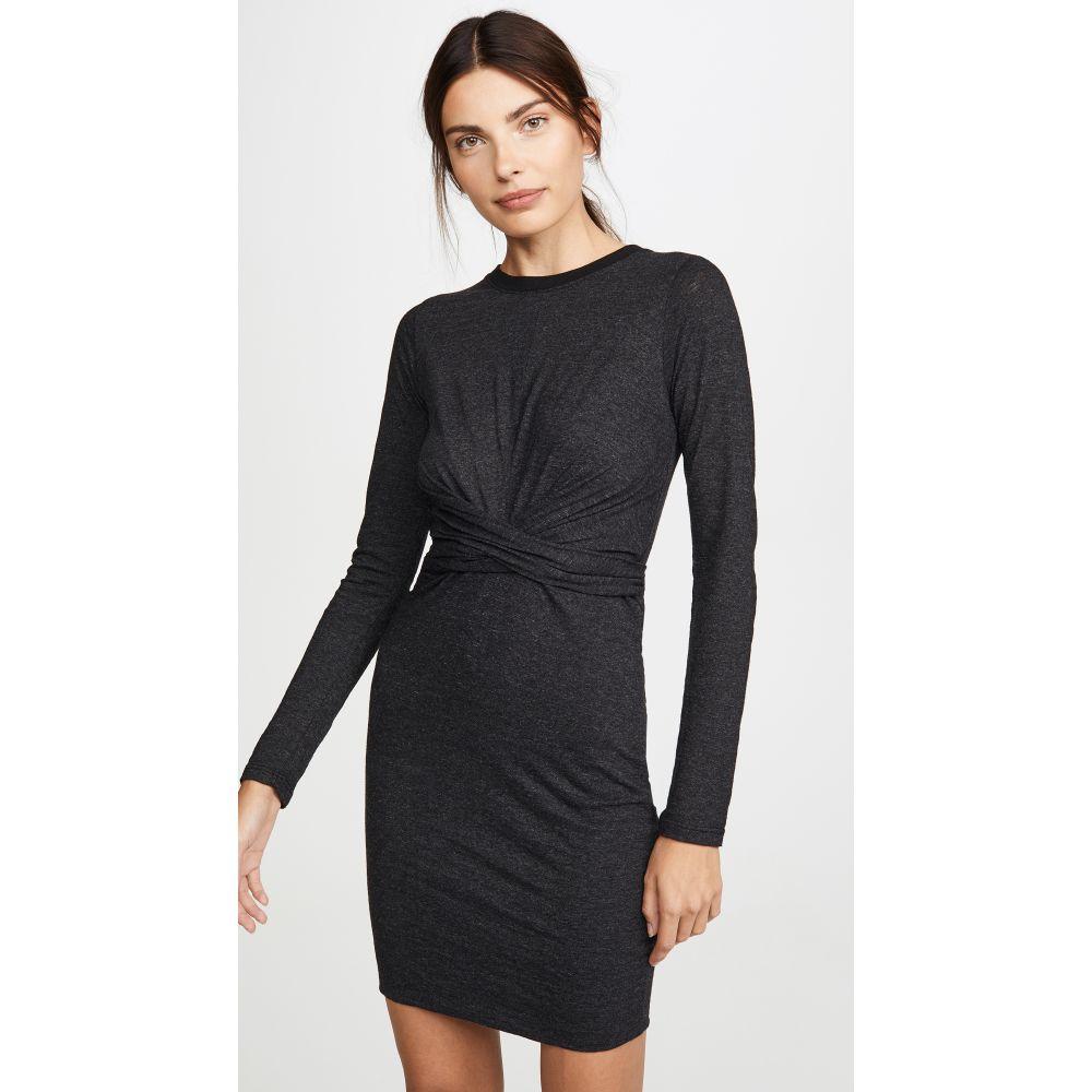 モンロー MONROW レディース ワンピース ワンピース・ドレス【Granite Wrapped Dress】Black