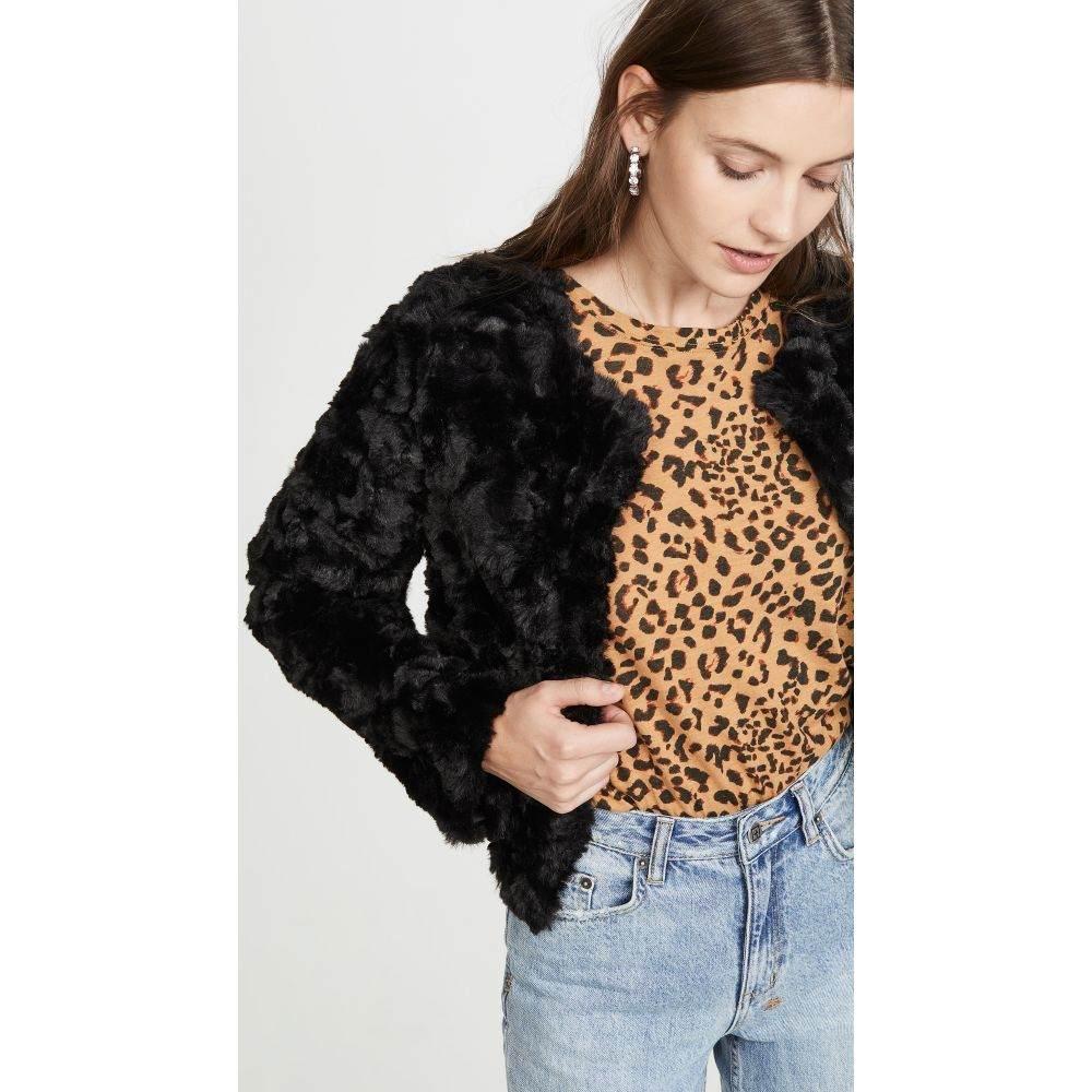 ライン アンド ドット Line & Dot レディース ジャケット アウター【Faux Fur Jacket】Black