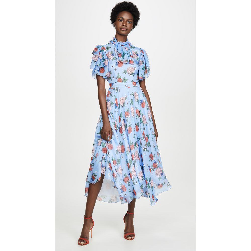 マグロウ macgraw レディース ワンピース ワンピース・ドレス【Sentimental Dress】Blue Floral