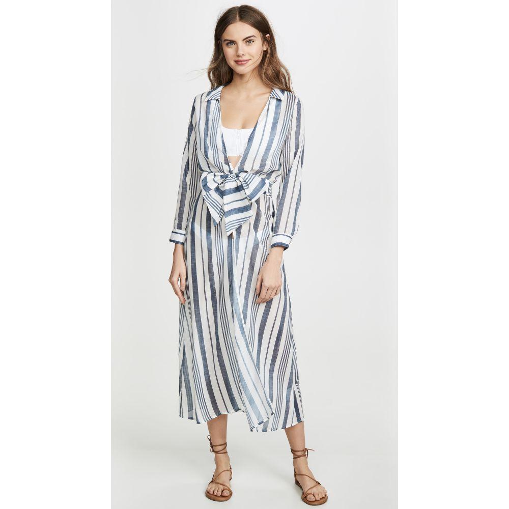 パルマセア Palmacea レディース ビーチウェア ラップドレス ワンピース・ドレス 水着・ビーチウェア【Striped Wrap Dress】Navy Stripe