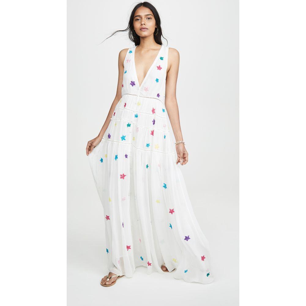 ロココ ROCOCO SAND レディース ビーチウェア ノースリーブ ワンピース・ドレス 水着・ビーチウェア【Sleeveless Star Dress】White/Colorful Stars