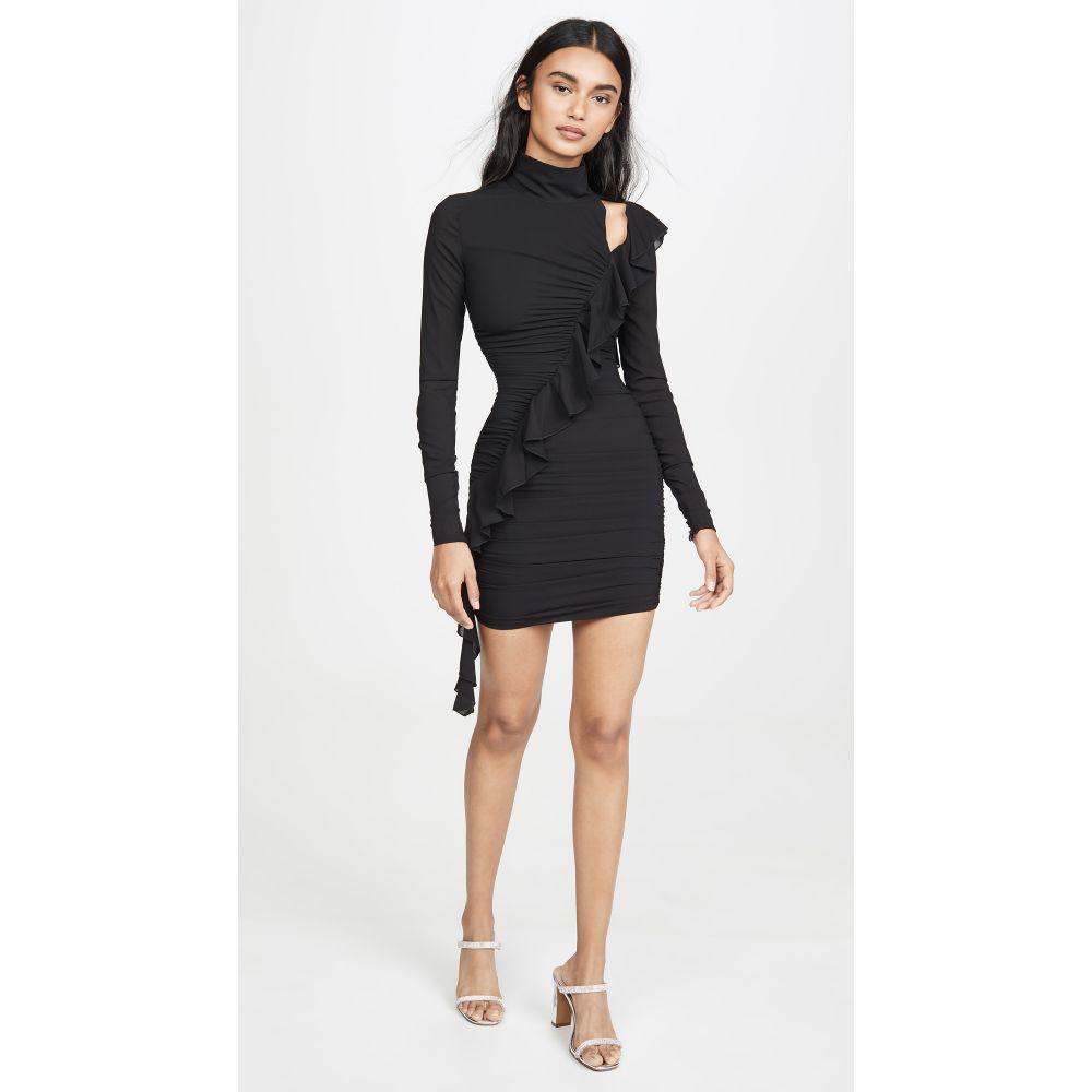 ヴェルサーチ Versace Jeans Couture レディース ワンピース ワンピース・ドレス【Cross Ruffle Dress】Nero