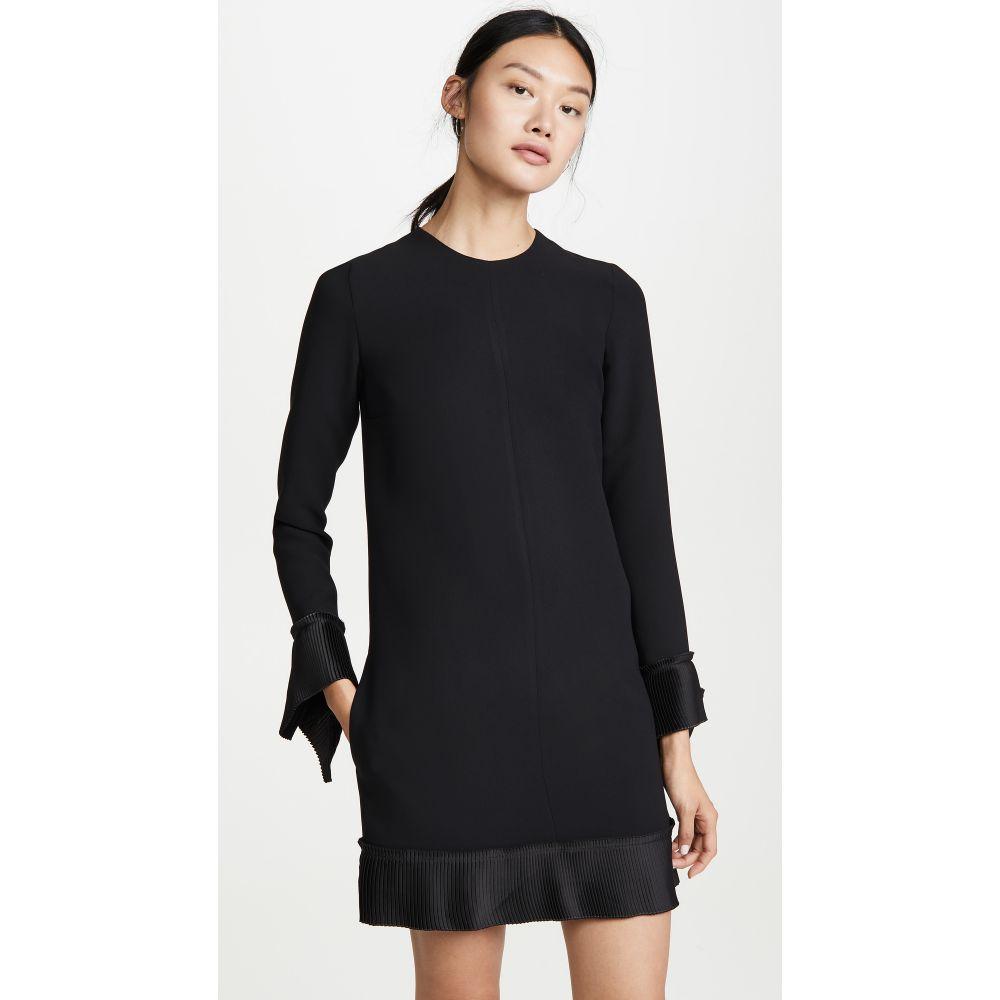 ヴィクトリア ベッカム Victoria Victoria Beckham レディース ワンピース シフトドレス ワンピース・ドレス【Pleat Detail Shift Dress】Black