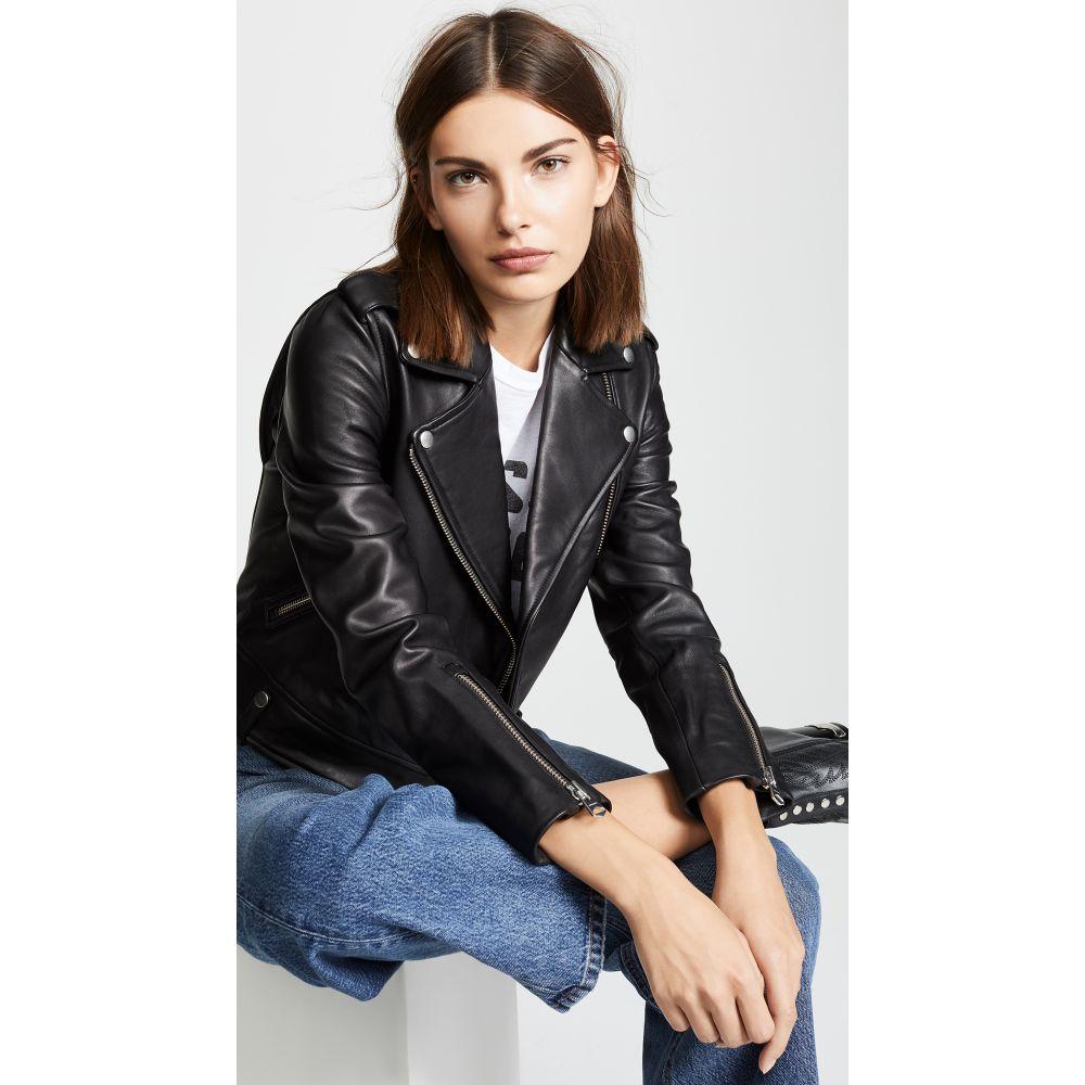 マッカージュ Mackage レディース レザージャケット アウター【Baya Leather Jacket】Black