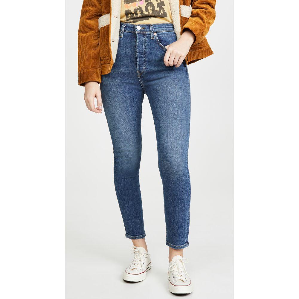 リダン RE/DONE レディース ジーンズ・デニム ボトムス・パンツ【Ultra High Rise Crop Jeans】Medium Fade