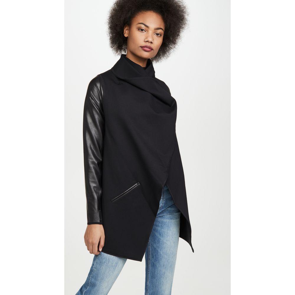 スパンクス SPANX レディース レザージャケット アウター【Faux Leather Convertible Jacket】Very Black