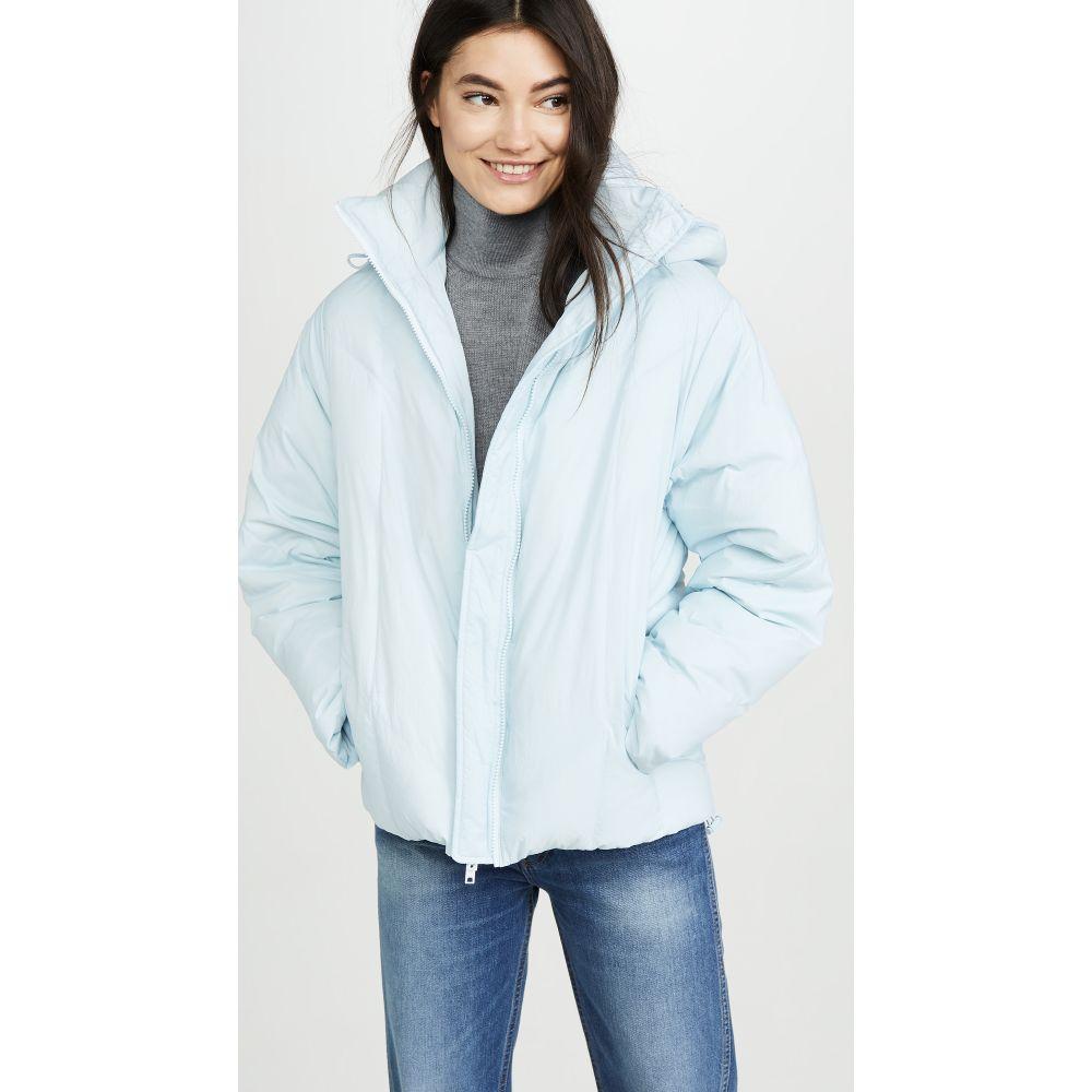 ヴィンス Vince レディース ダウン・中綿ジャケット フード アウター【Hooded Puffer Jacket】Pale Glacier