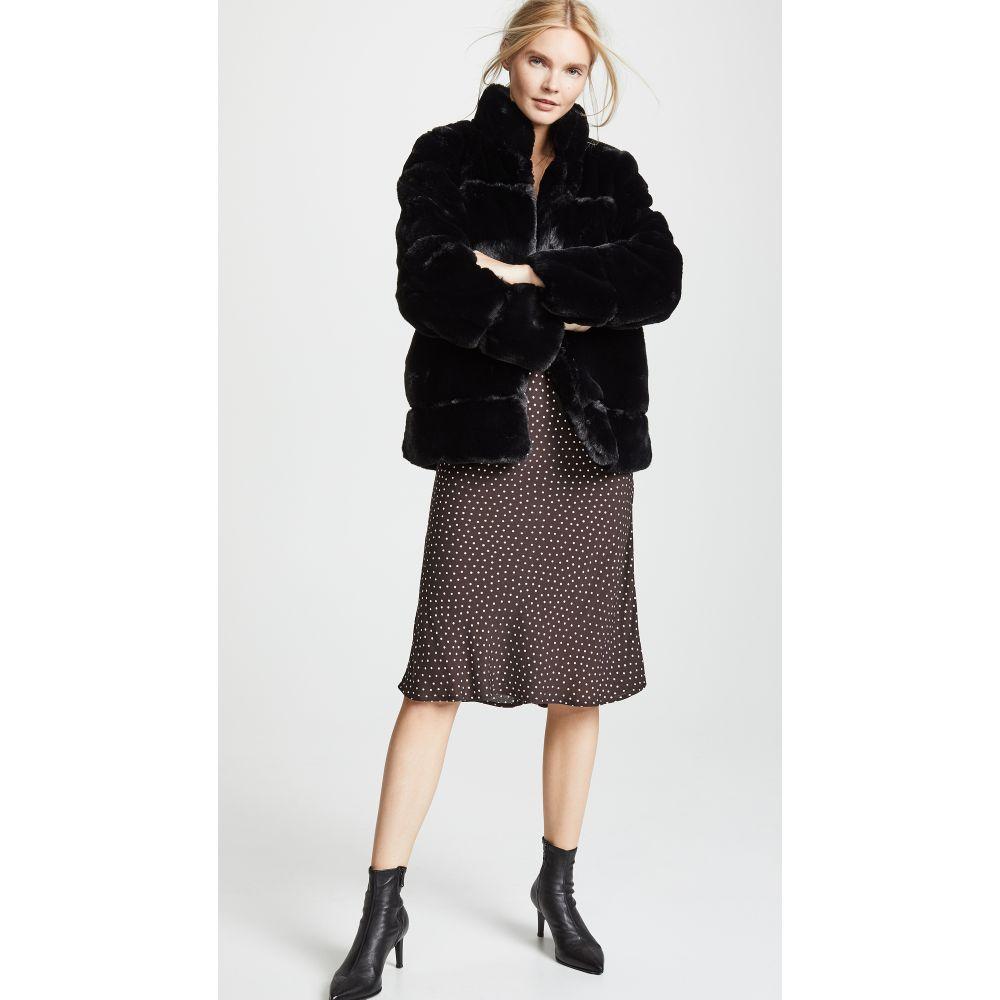 アパリス Apparis レディース コート ファーコート アウター【Sarah Quilted Faux Fur Coat】Noir