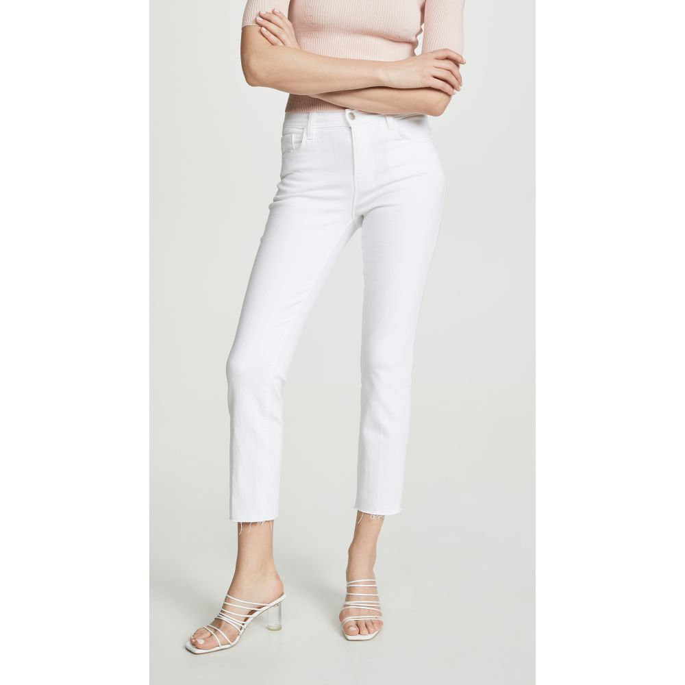 ラジャンス L'AGENCE レディース ジーンズ・デニム ボトムス・パンツ【Sada High Rise Crop Jeans】Blanc