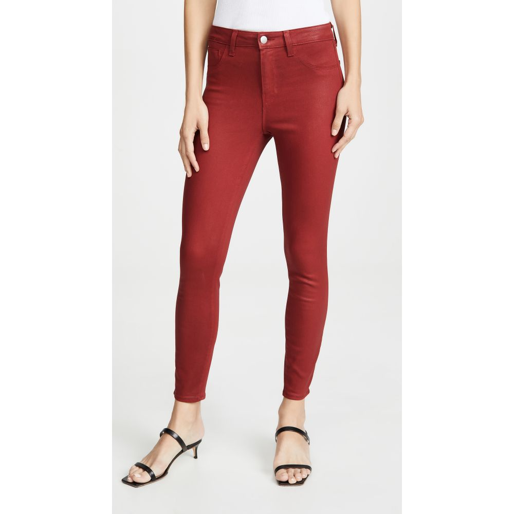 ラジャンス L'AGENCE レディース ジーンズ・デニム ボトムス・パンツ【Margot Coated High Rise Skinny Jeans】Redstone Coated