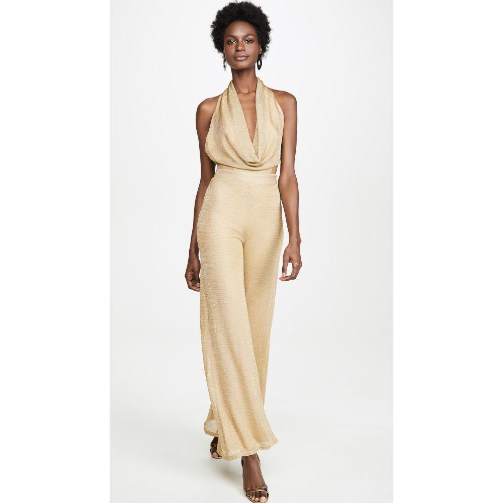 ミシャコレクション Misha Collection レディース オールインワン ジャンプスーツ ワンピース・ドレス【Olivia Jumpsuit】Gold