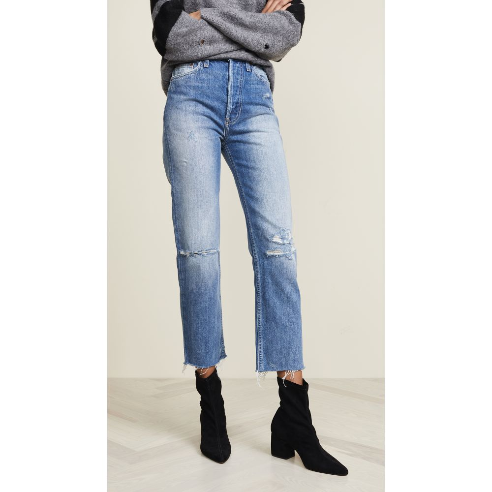 TRAVE レディース ジーンズ・デニム ボトムス・パンツ【Harper Crop Slim Straight Jeans】Time After Time