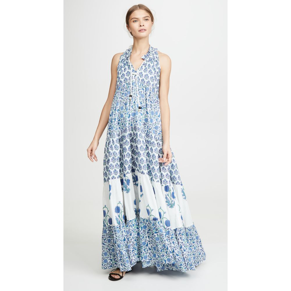 Ro's ガーデン Ro's Garden レディース ビーチウェア ワンピース・ドレス 水着・ビーチウェア【Sofia Long Ruffle Dress】Mixed Floral Cornflower