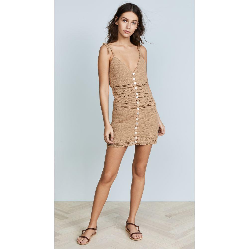 シー メイド ミー She Made Me レディース ビーチウェア ワンピース・ドレス 水着・ビーチウェア【Sita Cotton Crochet Mini Dress】Sand