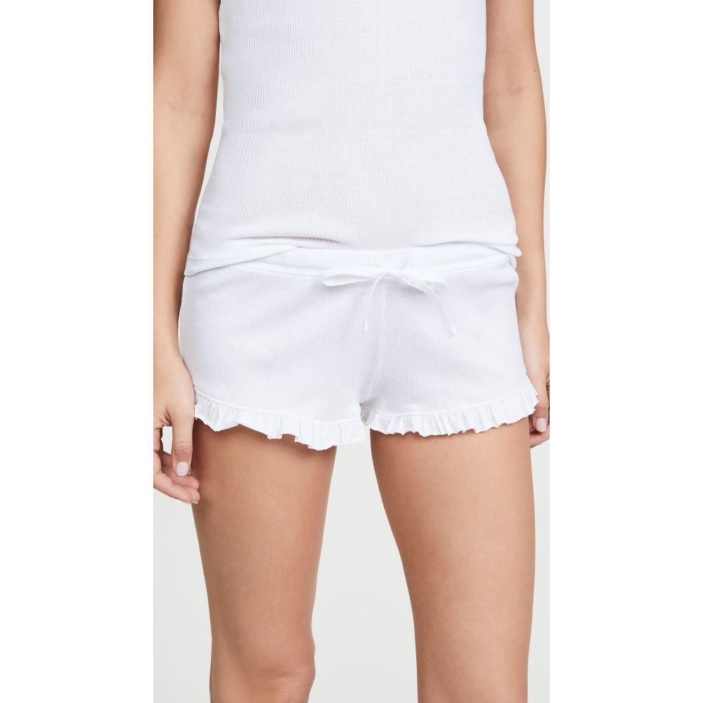 スキン Skin レディース パジャマ・ボトムのみ インナー・下着【Raffaela Shorts】White