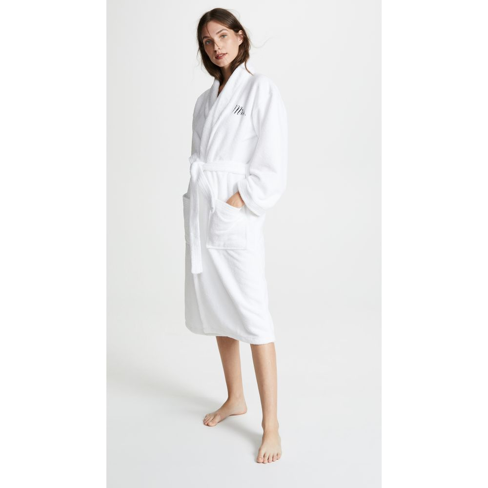 ベッドヘッド BedHead Pajamas レディース ガウン・バスローブ インナー・下着【Black Embroidered Mrs. Robe】White/Black
