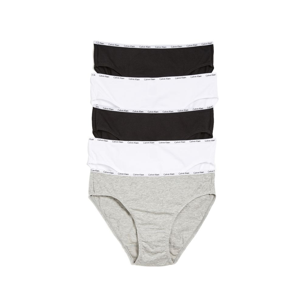 カルバンクライン Calvin Klein Underwear レディース ショーツのみ 5点セット インナー・下着【5 Pack Bikini Briefs】Black/White/Grey Heather