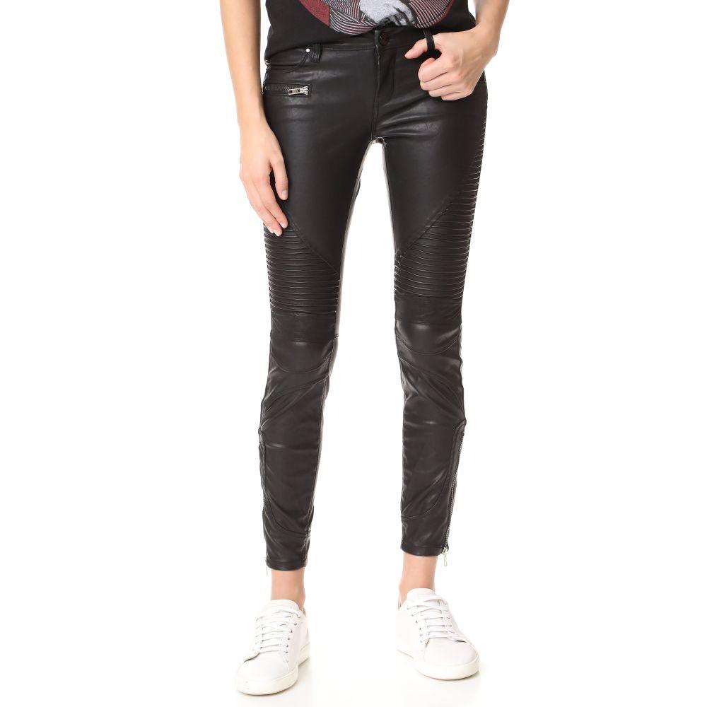 ブランクデニム Blank Denim レディース スキニー・スリム レザーパンツ ボトムス・パンツ【Black Vegan Leather Moto Pants】Daddy Soda