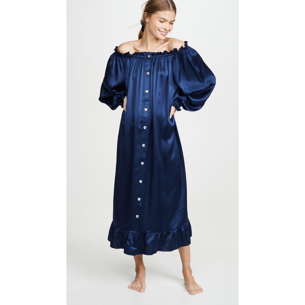 スリーパー Sleeper レディース パジャマ・トップのみ インナー・下着【Curacao Silk Loungewear Dress】Navy