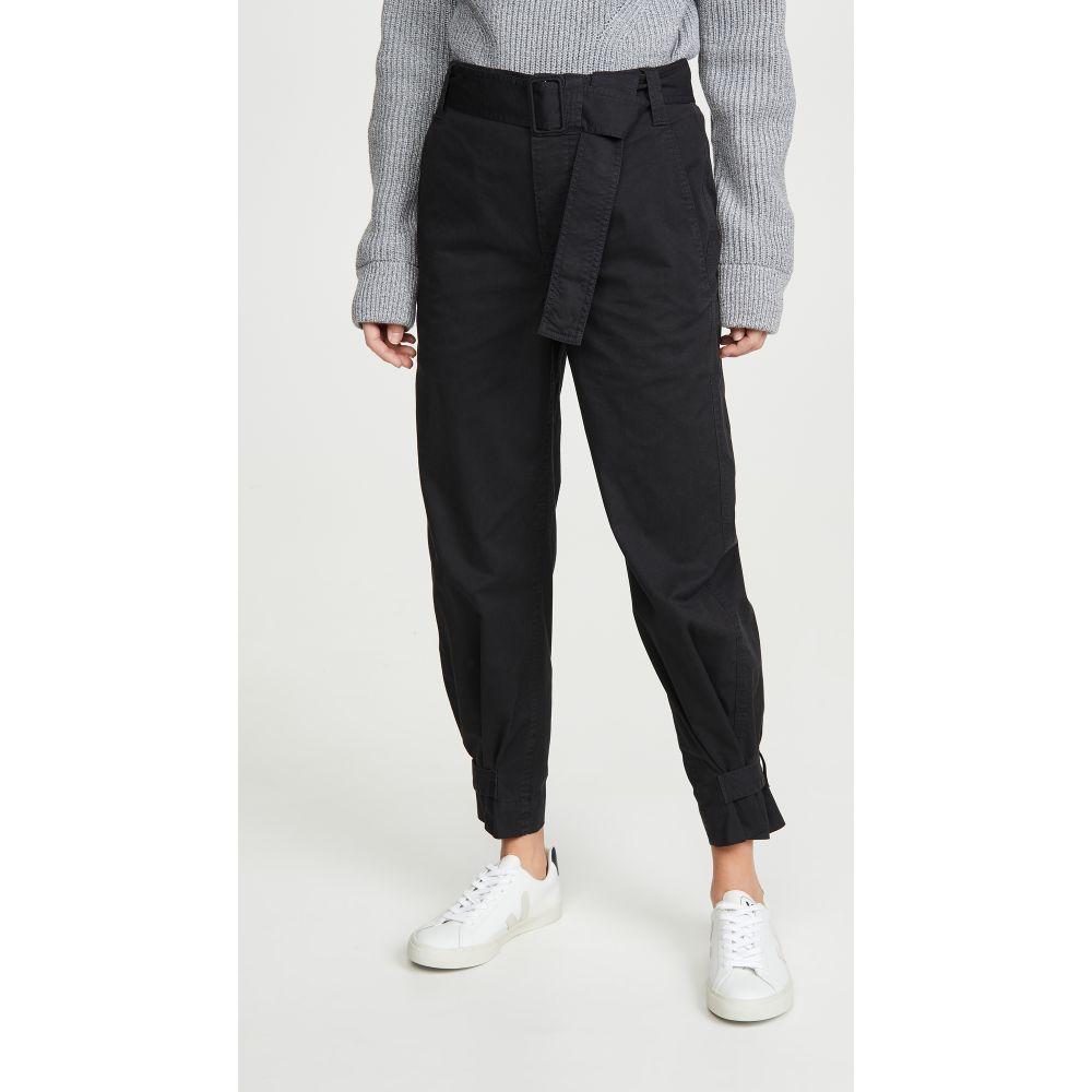 プロエンザ スクーラー ホワイト レーベル Proenza Schouler White Label レディース ボトムス・パンツ 【Cotton Belted Pants】Black