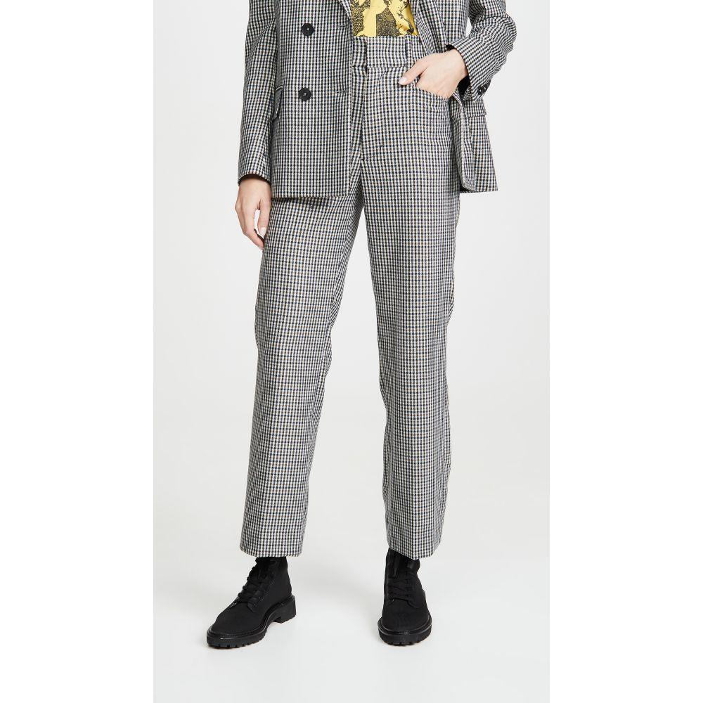 リダン RE/DONE レディース ボトムス・パンツ 【70s Trousers】Creme/Navy Plaid