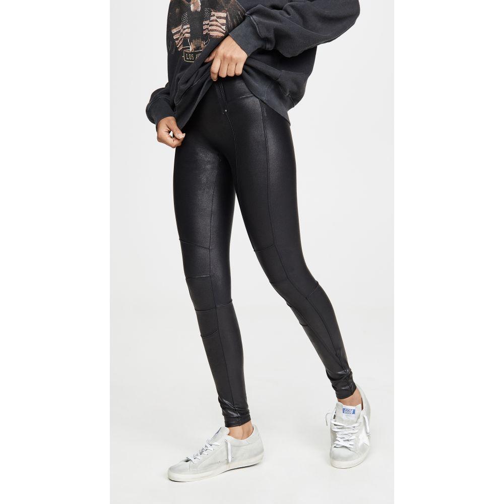スパンクス SPANX レディース ボトムス・パンツ レザーレギンス【Zip Detail Faux Leather Leggings】Very Black