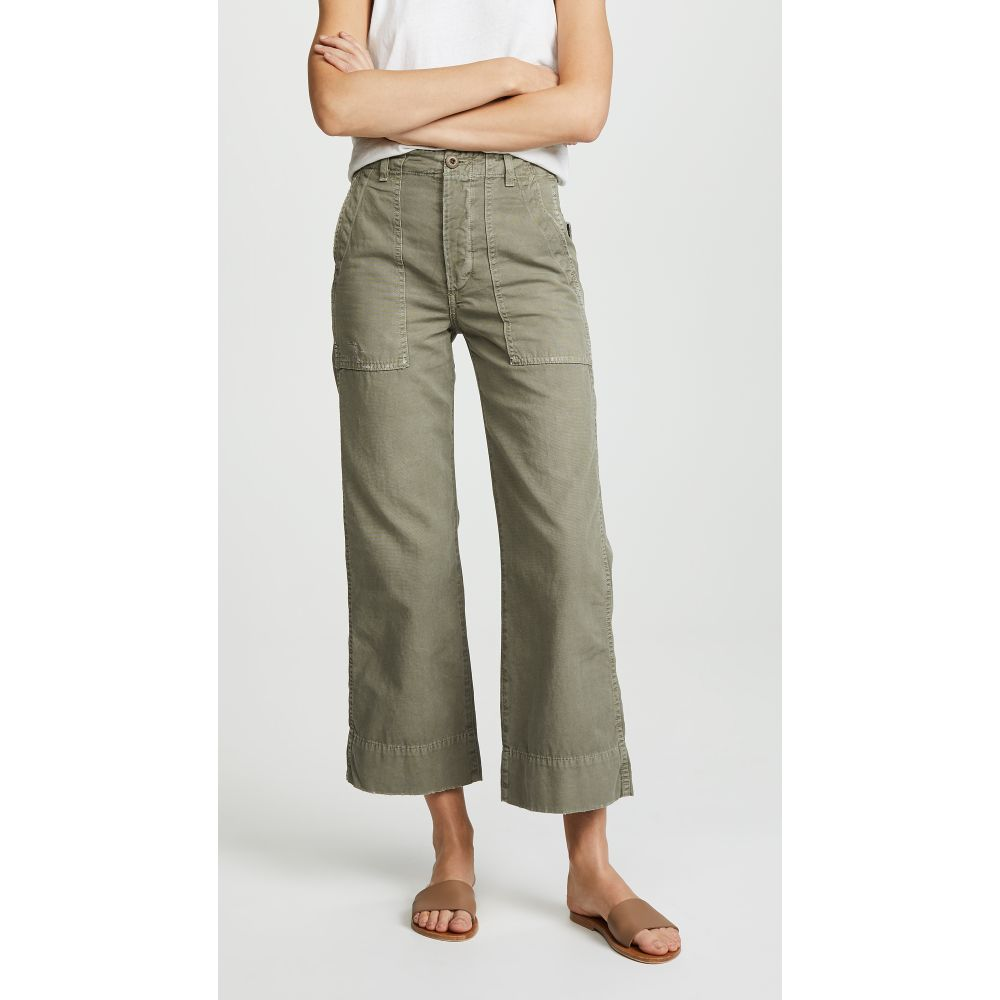 アモ AMO レディース ボトムス・パンツ ワイドパンツ【Army Wide Leg Pants】Grey Green