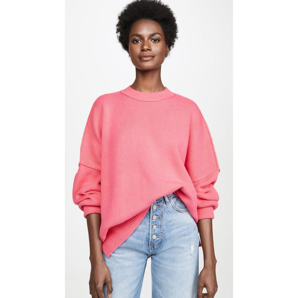 フリーピープル Free People レディース チュニック トップス【Easy Street Tunic Sweater】Bright Pink