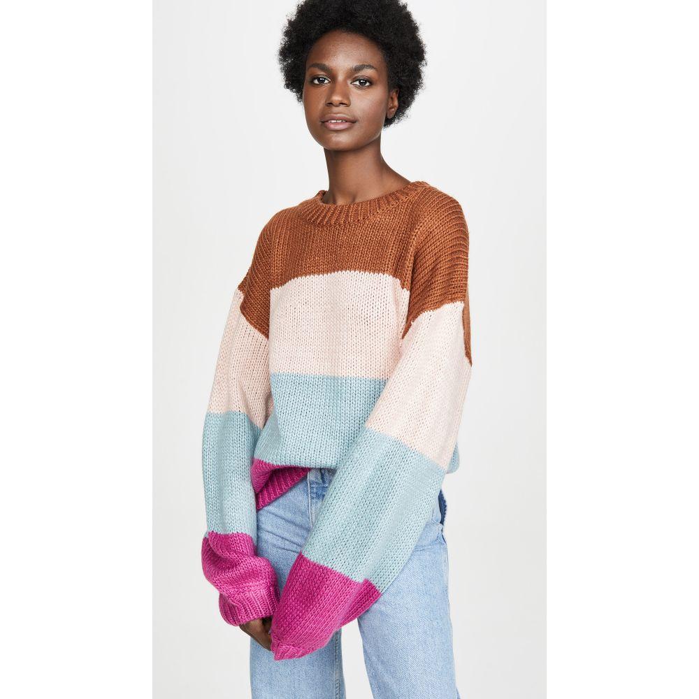 ミンクピンク MINKPINK レディース ニット・セーター トップス【Cozy Up With Me Sweater】Purple Multi