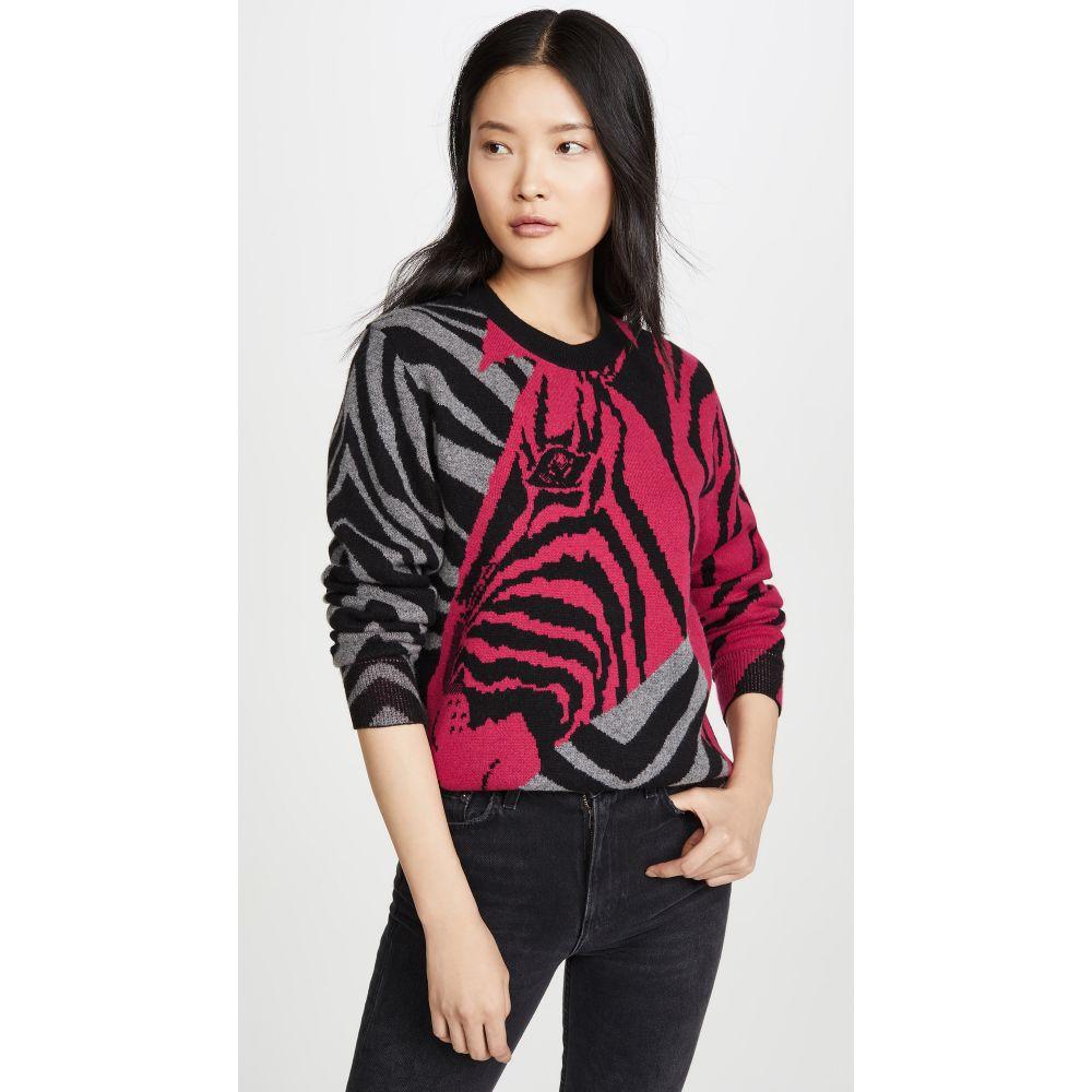 ラグ&ボーン Rag & Bone レディース ニット・セーター トップス【Cashmere Zebra Pullover】Black/Pink