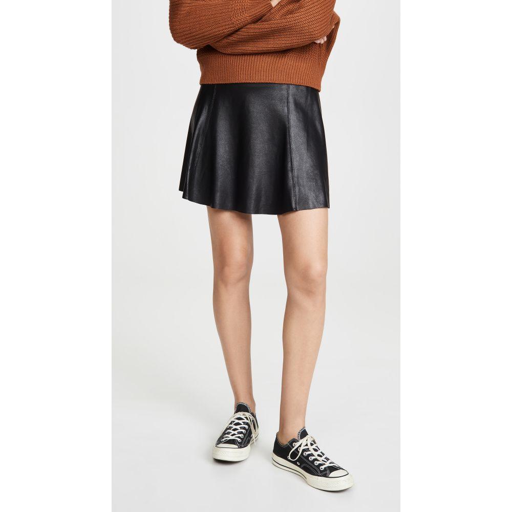 スパンクス SPANX レディース ひざ丈スカート スケータースカート スカート【Faux Leather Skater Skirt】Very Black