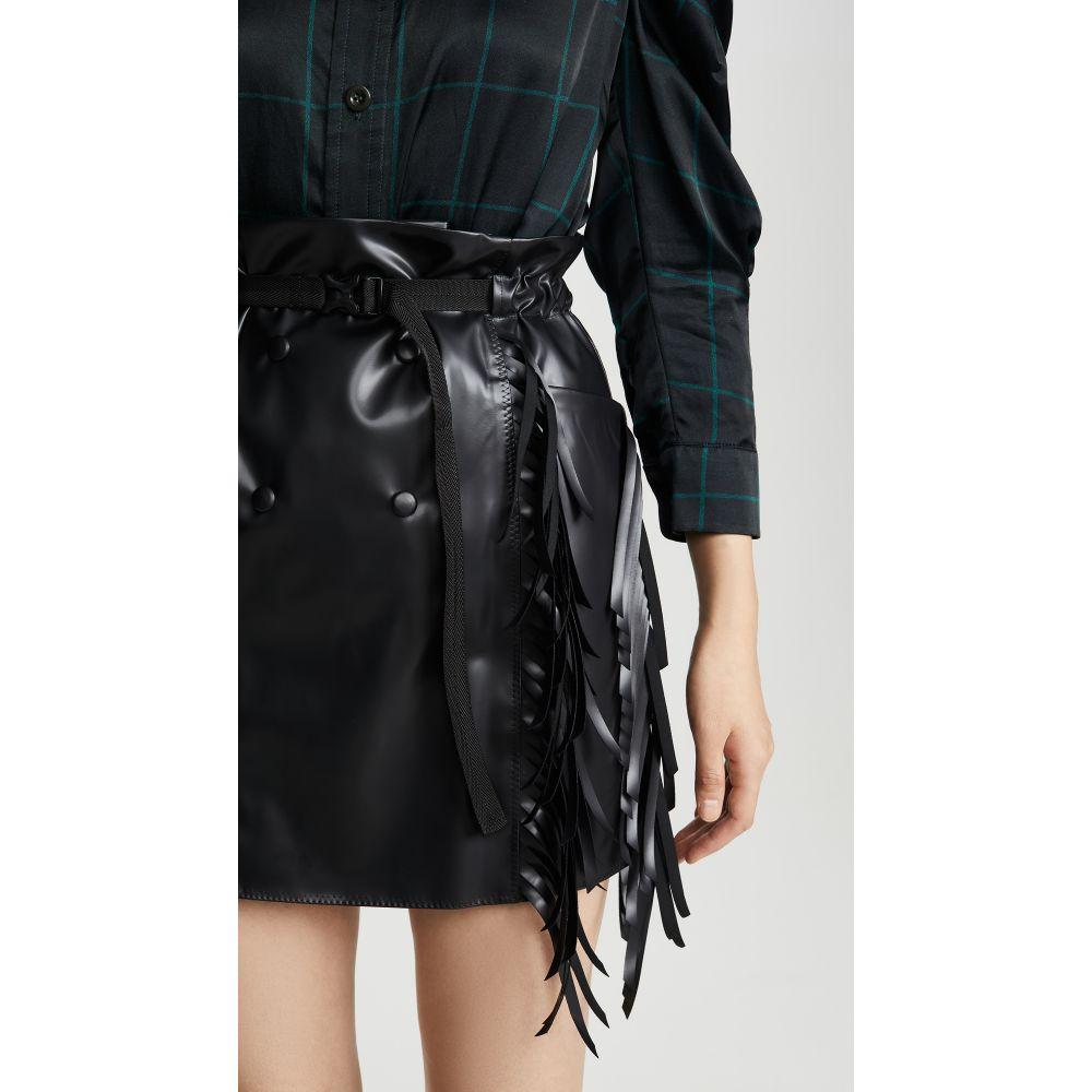 トーガ Toga Pulla レディース ミニスカート スカート【Rubber Coating Skirt】Black