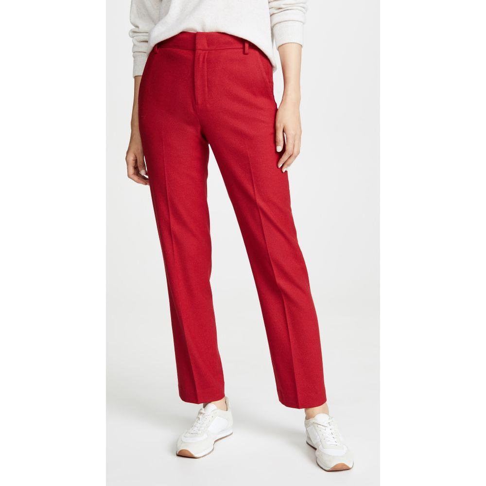 ヴィンス Vince レディース ボトムス・パンツ 【Flannel Tailored Pants】Crimson