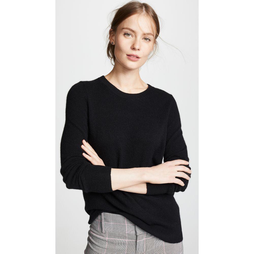 ホワイトウォーレン White + Warren レディース ニット・セーター トップス【Essential Cashmere Sweater】Black
