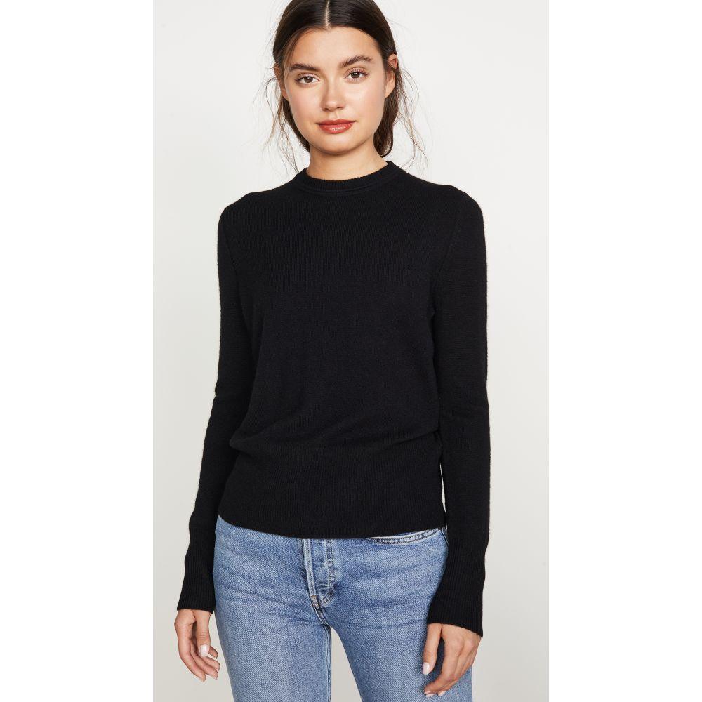 エキプモン Equipment レディース ニット・セーター トップス【Sanni Crew Cashmere Sweater】True Black