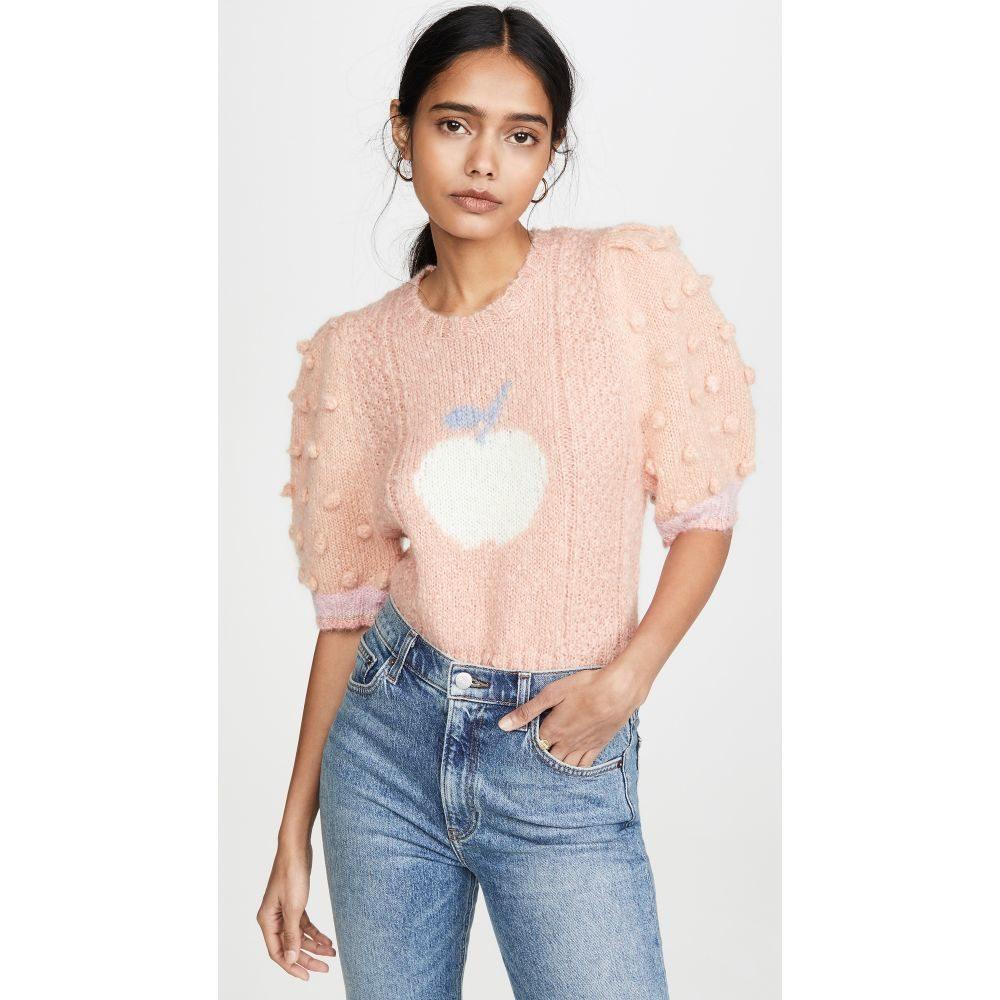 ラブシャックファンシー LOVESHACKFANCY レディース ニット・セーター トップス【Cyrielle Cropped Mohair Sweater】Peach Nectar