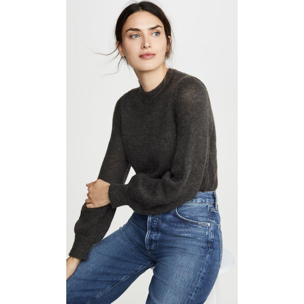 ローラズ Rolla's レディース ニット・セーター トップス【Fluffy Gigi Sweater】Washed Black