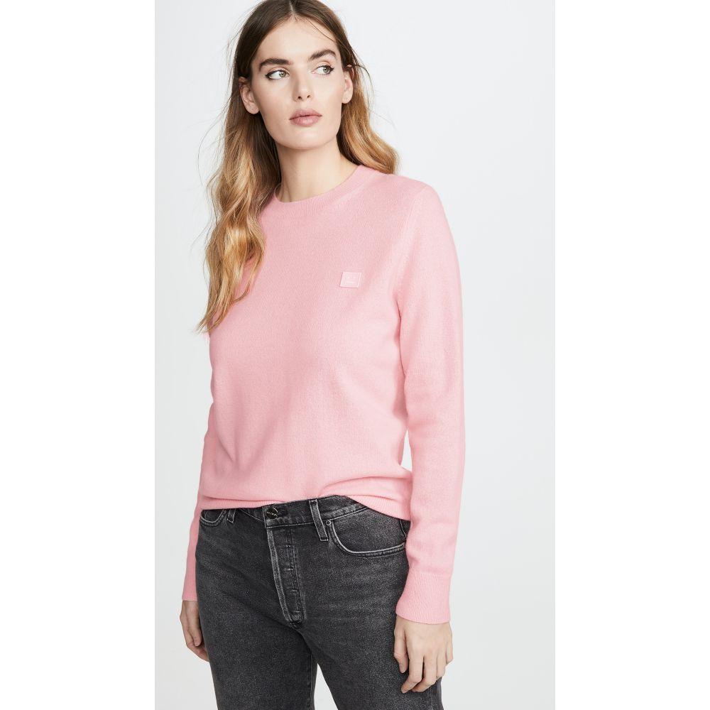 アクネ ストゥディオズ Acne Studios レディース ニット・セーター トップス【Kalon Face Sweater】Blush Pink