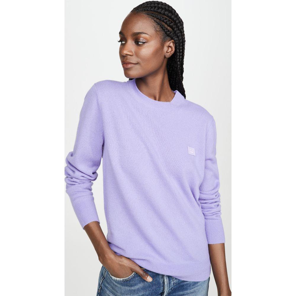アクネ ストゥディオズ Acne Studios レディース ニット・セーター トップス【Kalon Face Sweater】Lavender Purple