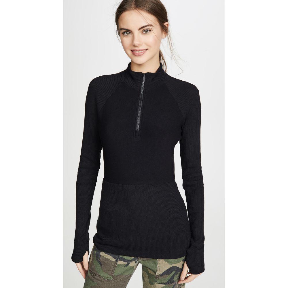 ララドレス ALALA レディース ニット・セーター ハーフジップ トップス【Rise Quarter Zip Sweater】Black