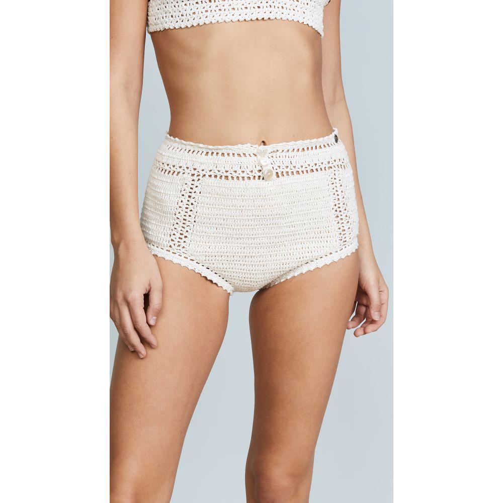 シー メイド ミー She Made Me レディース ボトムのみ 水着・ビーチウェア【Essential Cotton Crochet High Waist Bikini Bottoms】Natural