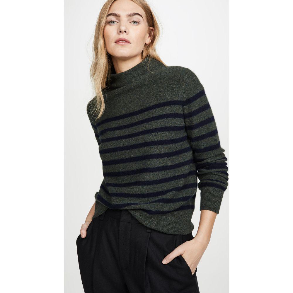 ヴィンス Vince レディース ニット・セーター トップス【Brenton Stripe Cashmere Sweater】Heather Moss/Coastal