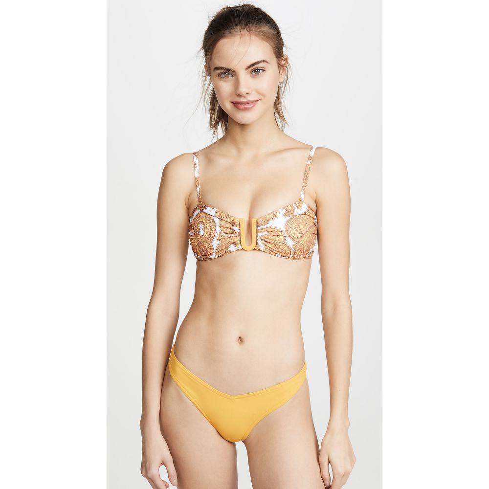 ジマーマン Zimmermann レディース トップのみ 水着・ビーチウェア【Sculpt Link Bikini Top】Mango Paisley