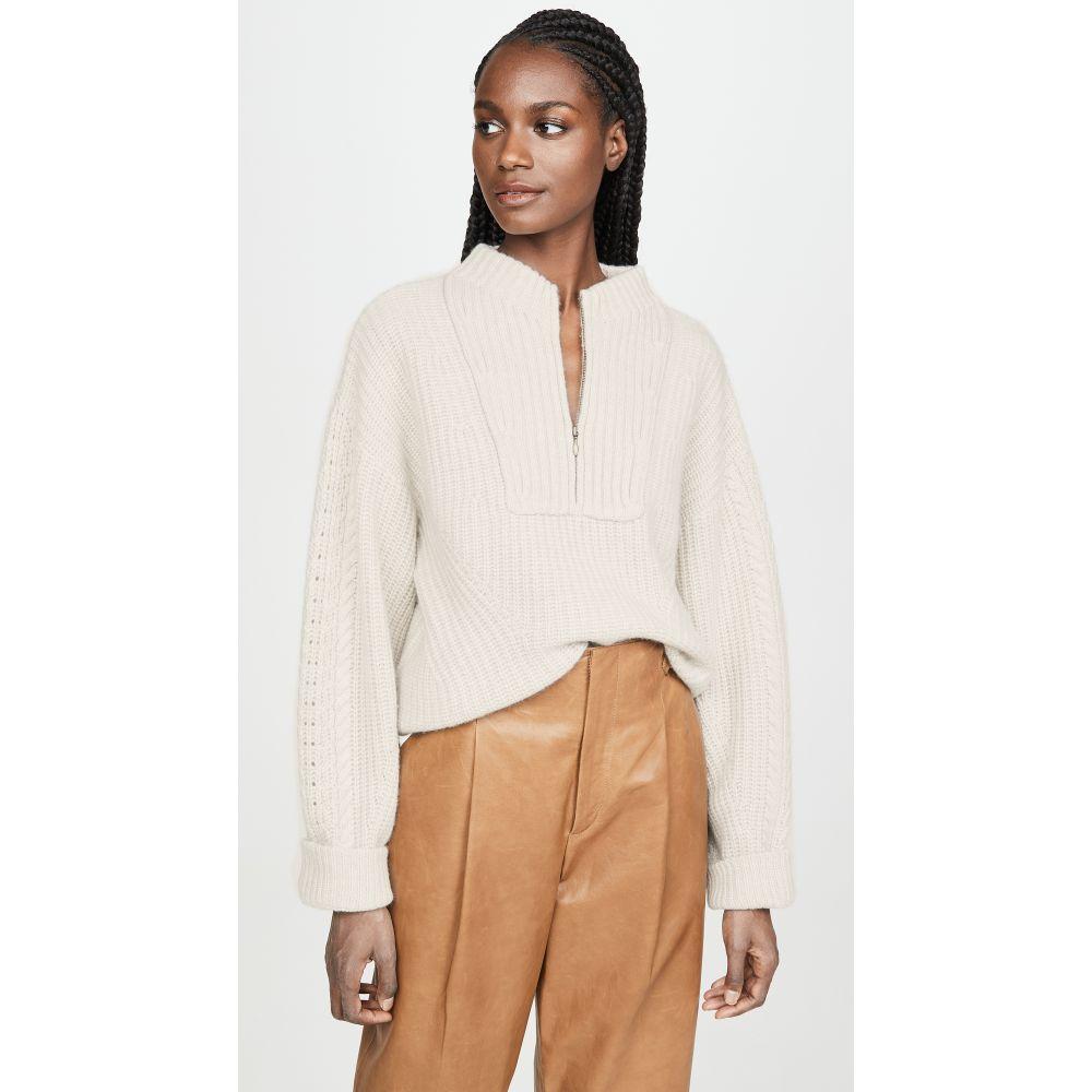 ルカシャ Le Kasha レディース ニット・セーター トップス【Cable Knit Cashmere Sweater】Light Beige